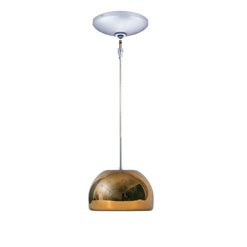 Envisage VI Chrome 8-Inch One-Light Low Voltage Dome Mini Pendant with Chocolate Shade