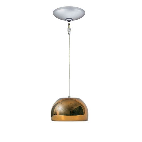 Envisage VI Satin Nickel 8-Inch One-Light Low Voltage Mini Pendant with Chocolate Shade