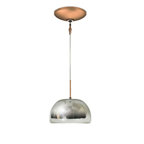 Envisage VI Chrome 8-Inch One-Light Low Voltage Dome Mini Pendant with Bronze Canopy