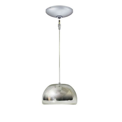 Envisage VI Chrome 8-Inch One-Light Low Voltage Mini Pendant with Satin Nickel Canopy