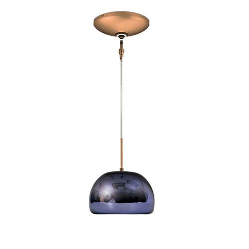 Envisage VI Bronze 8-Inch One-Light Low Voltage Dome Mini Pendant with Purple Shade