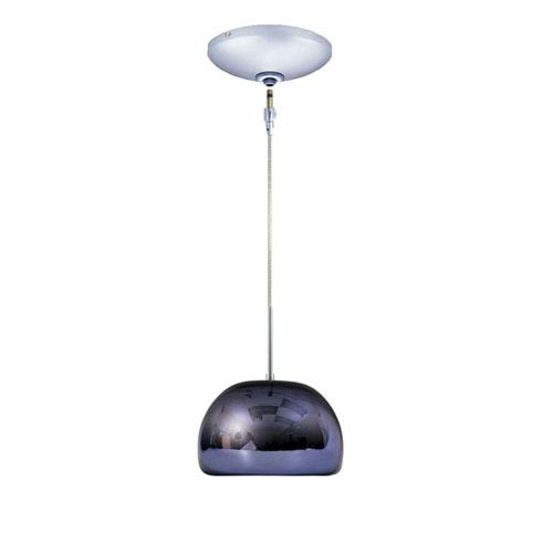 Envisage VI Chrome 8-Inch One-Light Low Voltage Dome Mini Pendant with Purple Shade