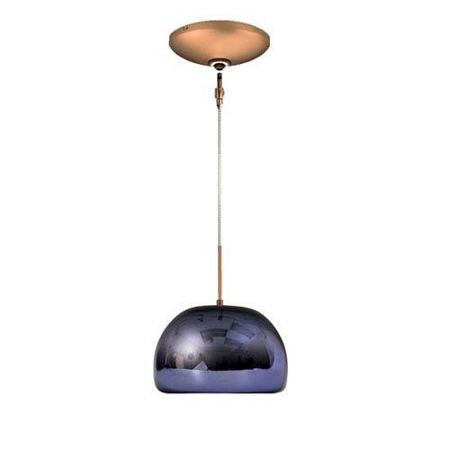 Purple mini pendant lighting free shipping bellacor envisage vi bronze 6 inch one light low voltage dome mini pendant with purple aloadofball Images