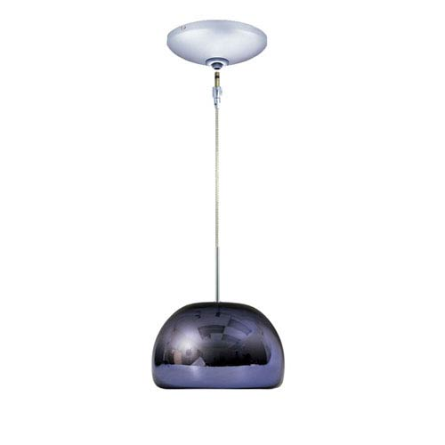 Envisage VI Chrome 6-Inch One-Light Low Voltage Dome Mini Pendant with Purple Shade