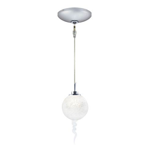 Jesco Lighting Group Tori Satin Nickel Low Voltage Pendant and Canopy Kit with White Glass
