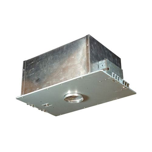 Silver 15.5-Inch One-Light Low Voltage Airtight IC Housing for New Construction