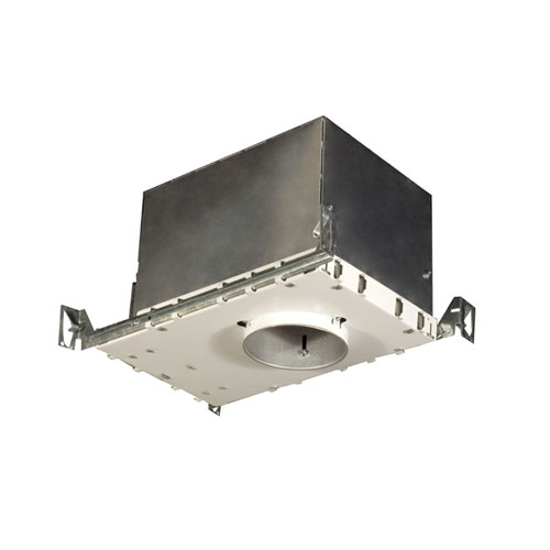 Silver 4-Inch One-Light Low Voltage Airtight IC Housing For New Construction