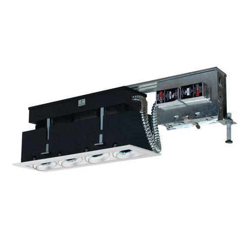 White Four-Light Low Voltage Linear Remodel Fixture