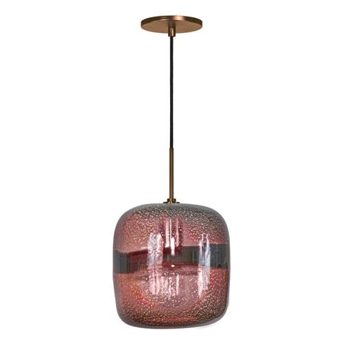 Jesco Lighting Group Envisage VI Bronze One-Light Mini Pendant with Purple Shade