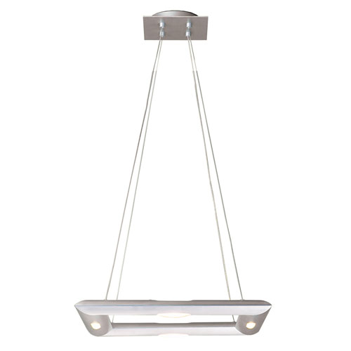 Polished and Burnished Aluminum Four-Light Pendant