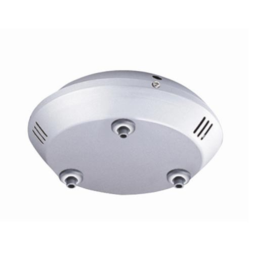 Satin Nickel Ceiling Multipoint Quick Adapt Three-Light Round Canopy