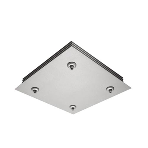 Satin Nickel Ceiling Multipoint Quick Adapt Four-Light Square Canopy