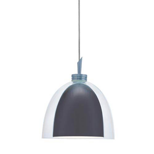 Jesco Lighting Group Lina Gun Metal Quick Adapt Mini Pendant with Clear Glass over Gun Metal Shade with White Painted