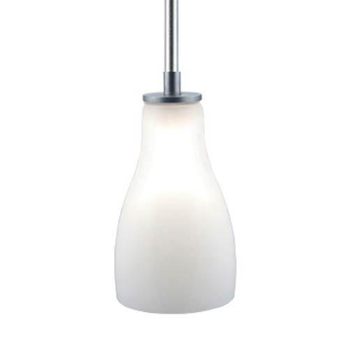 Jesco Lighting Group Bert Satin Nickel Quick Adapt Mini Pendant with White Glass
