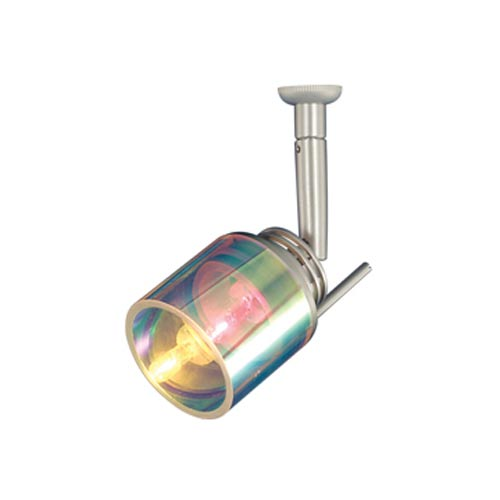 Lucas Satin Nickel Low-Voltage Quick Adapt Directional Spot with Dichroic Cylindrical Glass