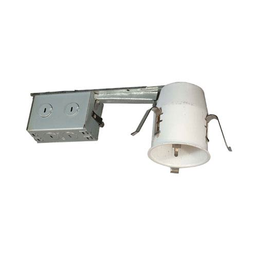 Silver 11-Inch One-Light Line Voltage Non-IC Housing for Remodel