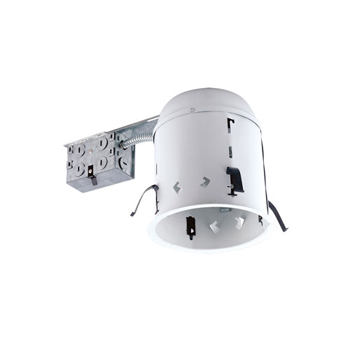 Silver 6-Inch One-Light Non-IC Housing for Remodel