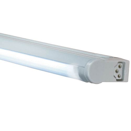 Silver 14-Inch Adjustable 8W T4 Fluorescent Undercabinet Fixture, 3000K