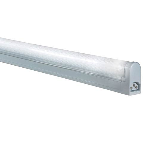 White 34.5-Inch 21W T5 Fluorescent Grounded Undercabinet Fixture, 4100K