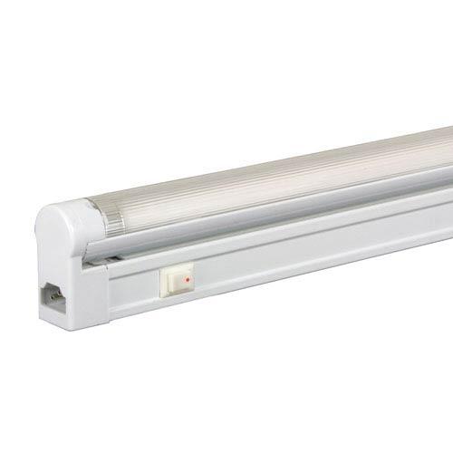 Jesco Lighting Group White 58-Inch 35W T5 Fluorescent Undercabinet Fixture with Rocker Switch, 5000K