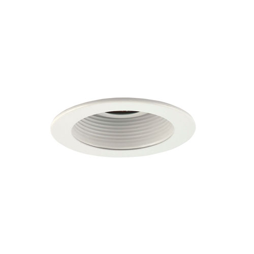 White 3-Inch Trim with Adjustable Step Baffle