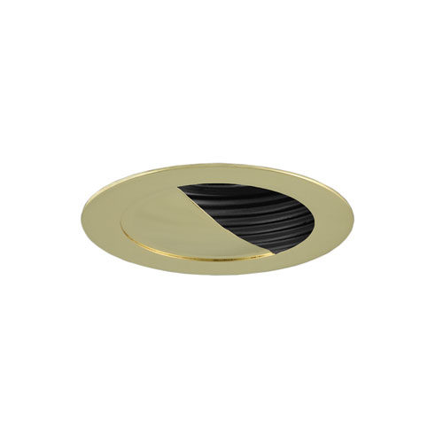 Black and Polished Brass 3-Inch Low Voltage Trim