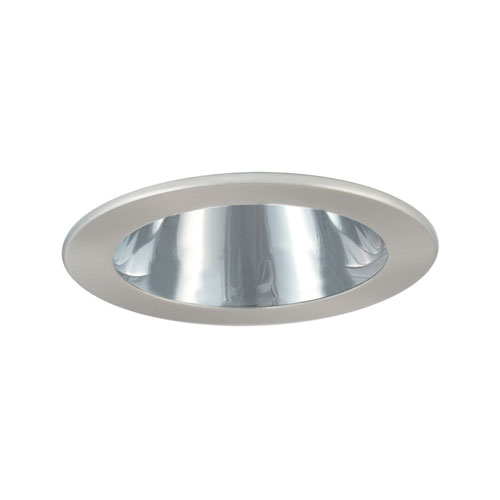 Chrome and Satin Chrome 4-Inch Low Voltage Trim with Adjustable Open Reflector