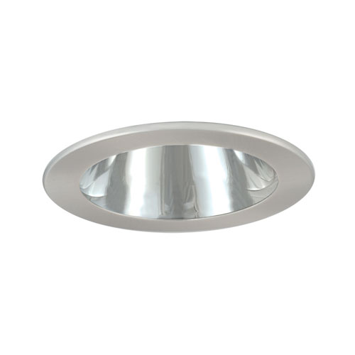 Satin Chrome 4-Inch Low Voltage Trim with Adjustable Open Reflector