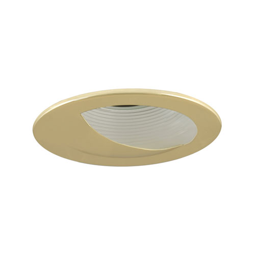 White and Polished Brass 4-Inch Low Voltage Trim