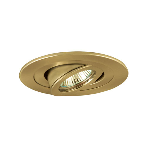 Polished Brass 4-Inch Low Voltage Adjustable Accent Trim