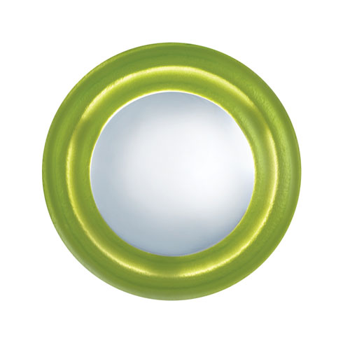 Chrome and Green One-Light Round Wall Sconce