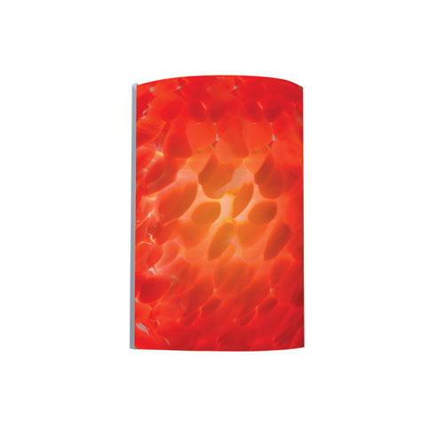 Chrome and Red One-Light Wall Sconce