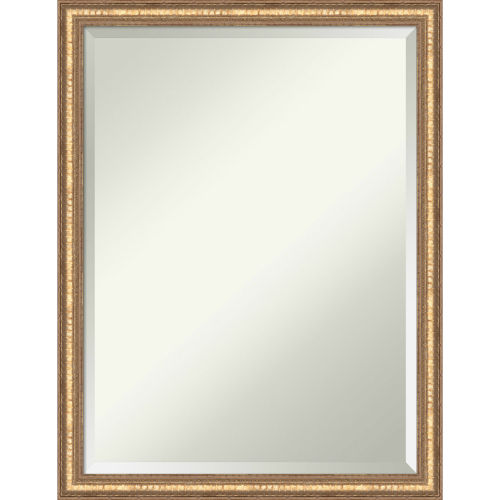 Fluted Champagne 20W X 26H-Inch Decorative Wall Mirror