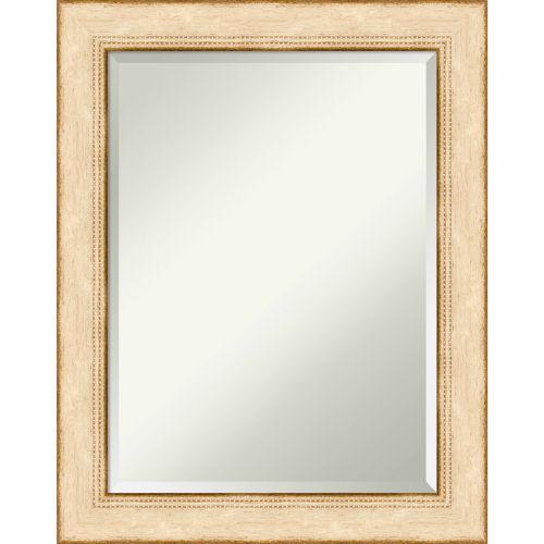 Highland White 23W X 29H-Inch Decorative Wall Mirror