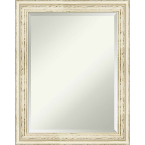 Country White 22W X 28H-Inch Bathroom Vanity Wall Mirror