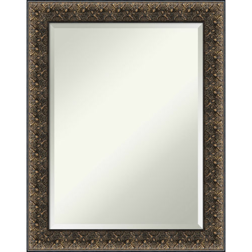 Intaglio Black 23W X 29H-Inch Bathroom Vanity Wall Mirror