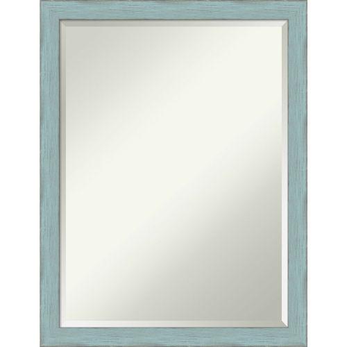 Sky Blue and Gray 20W X 26H-Inch Bathroom Vanity Wall Mirror