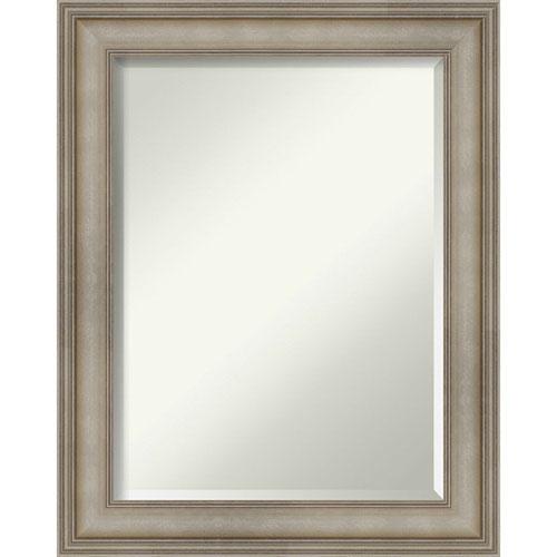 Mezzanine Antique Silver 23-Inch Bathroom Wall Mirror