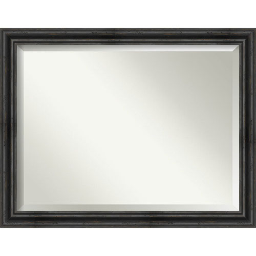 Rustic Pine Black 45-Inch Bathroom Wall Mirror