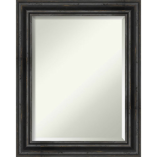 Rustic Pine Black 23-Inch Bathroom Wall Mirror