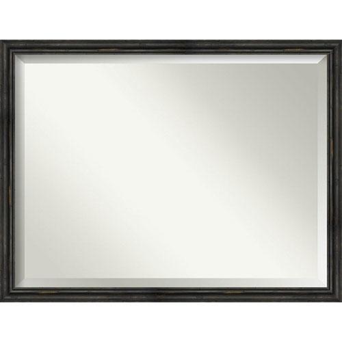 Black 43-Inch Bathroom Wall Mirror
