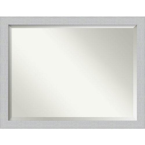 Shiplap White 44-Inch Wall Mirror