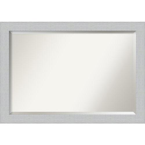 Shiplap White 40-Inch Bathroom Wall Mirror