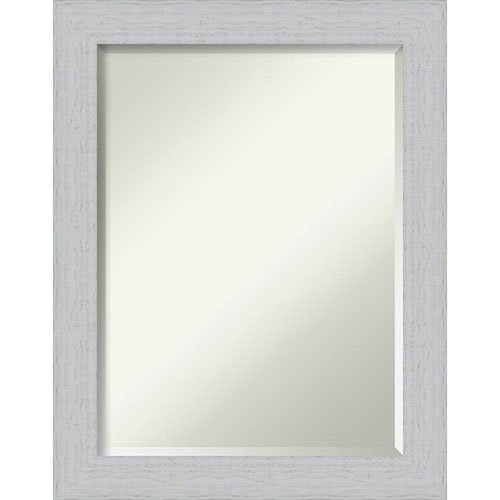 Shiplap White 22-Inch Wall Mirror