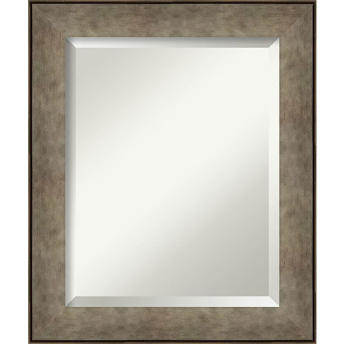 Pounded Silver 21-Inch Wall Mirror