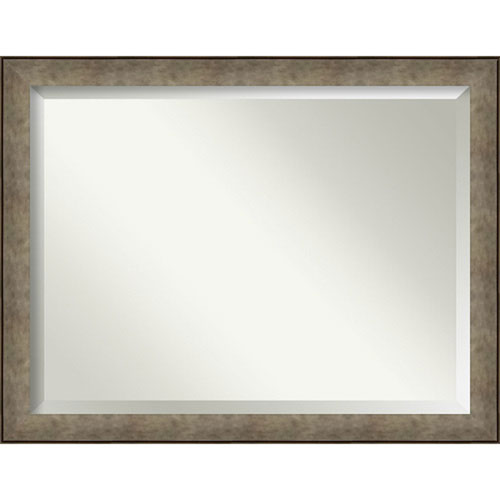 Pounded Silver 45-Inch Wall Mirror