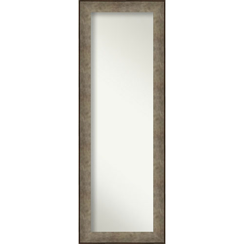 Pounded Silver 19-Inch Full Length Mirror