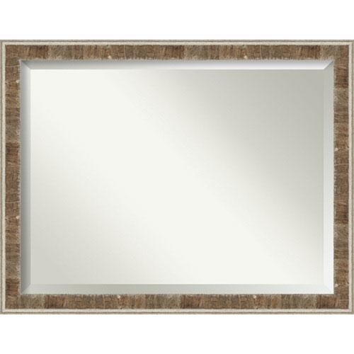 Farmhouse Brown Bathroom Wall Mirror