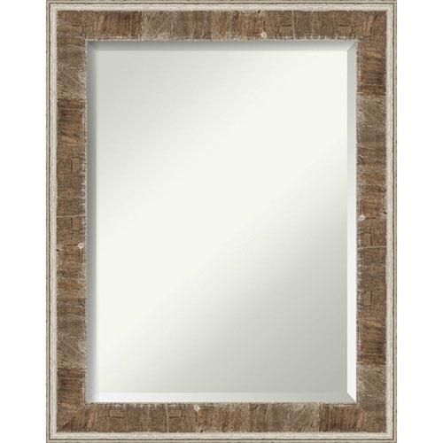 Farmhouse Brown 23-Inch Wall Mirror