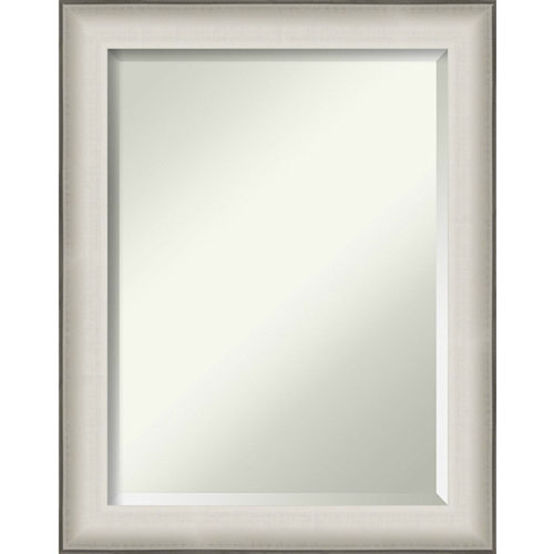 Allure White 23-Inch Bathroom Wall Mirror